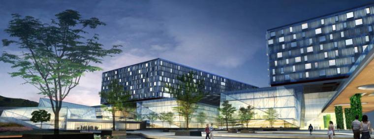 湘雅五医院建筑设计方案文本+CAD