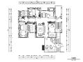 新中式风格新东方朴素四居室住宅设计施工图(附效果图+模型)