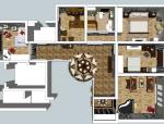 一套精品室内设计户型表达SketchUp模型