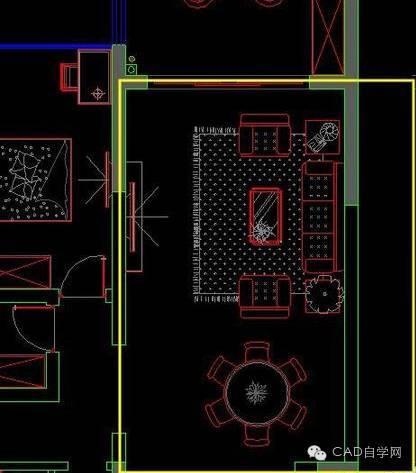CAD教程:CAD客餐厅吊顶怎么画?