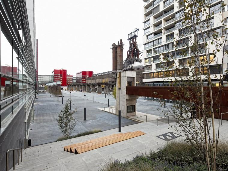 卢森堡钢铁厂改造城市市民广场
