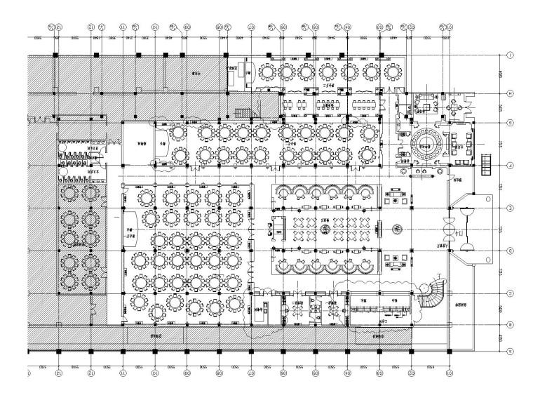 [上海]红子鸡大酒店一层装饰改建工程设计施工图(附效果图)