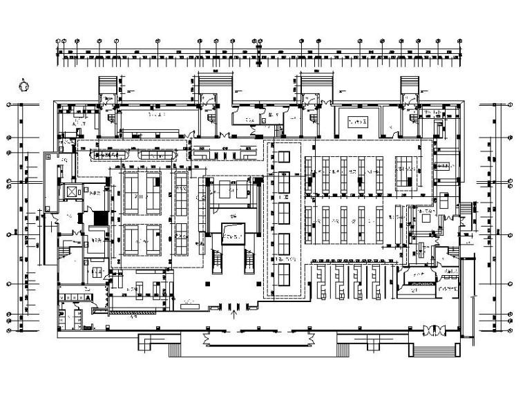 [南京]大型超市购物中心室内布局及设计施工图