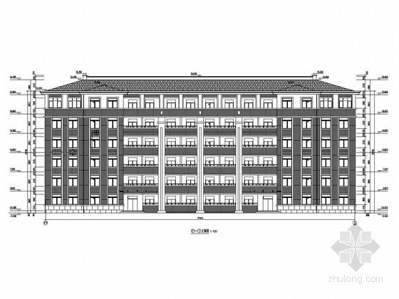 六层框架结构女生宿舍楼结构施工图(含建筑图)