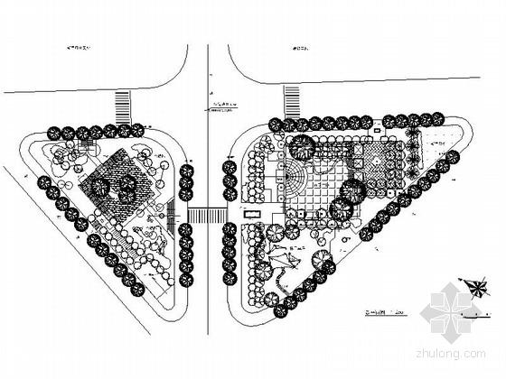 [浙江]乡村道旁绿地景观规划设计施工图