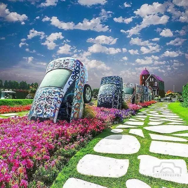 迪拜的花卉展览,全世界规模最大!你肯定没看过!_22