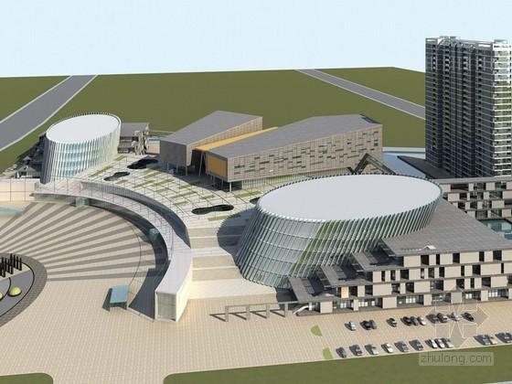现代综合建筑3D模型下载
