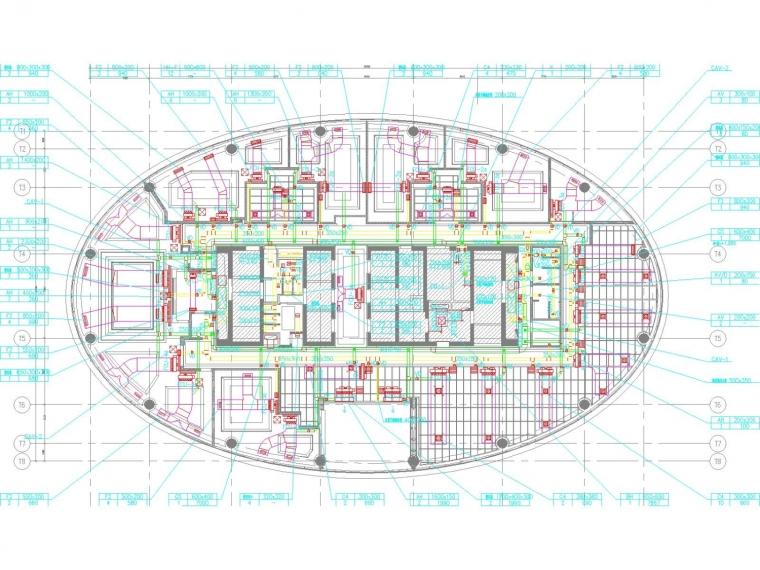 [宁夏]国际商务中心顶层空调通风系统设计施工图