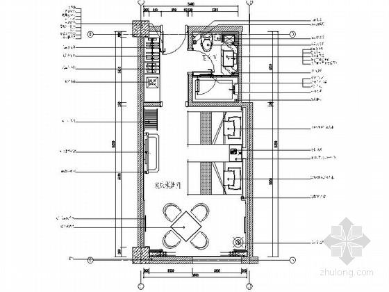 [江苏]花园式酒店附楼双床棋牌间室内装修图(含效果)