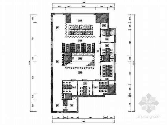 [浙江]高档五星级酒店日本料理餐厅室内设计施工图(含实景)