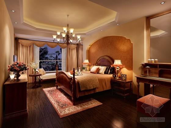 古典卧室3D模型下载