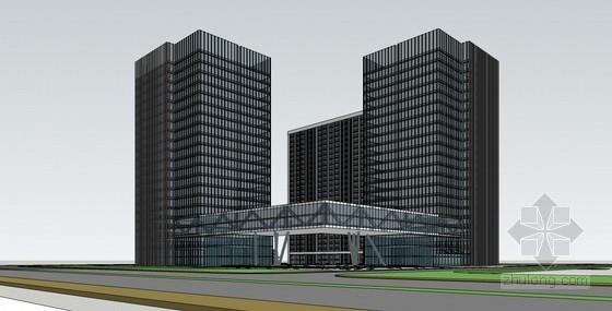 商务办公建筑SketchUp模型下载