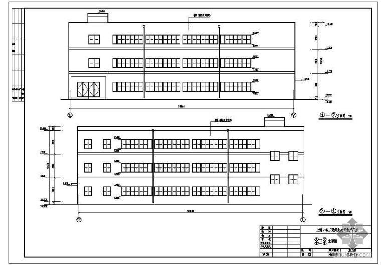 [学士]某三层生产厂房毕业设计(含计算书、建筑结构设计图)