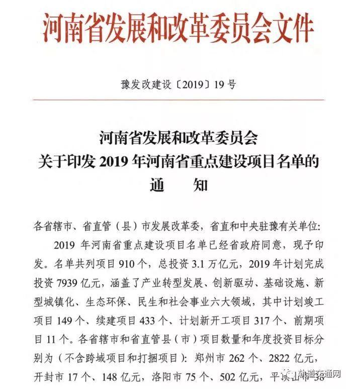 轨交建设强势来袭!河南、福建、重庆3省市2019年度重点项目名单