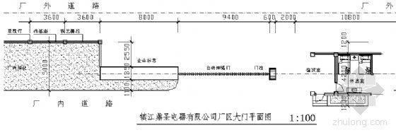[合集]24套大门建筑施工图(学校、接待中心、公司大门、欧式)_9