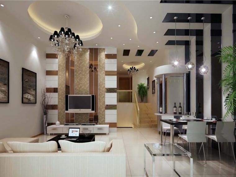 现代客餐厅3D模型下载