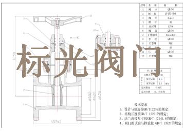 软密封暗杆闸阀主要技术参数及结构特点