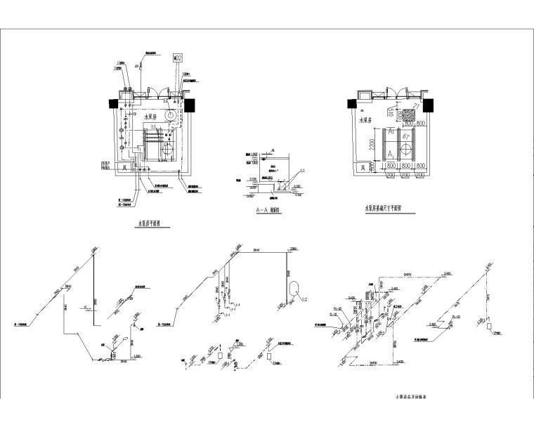 [江苏]启东市档案馆和科技馆给排水设计和施工图纸(含说明)