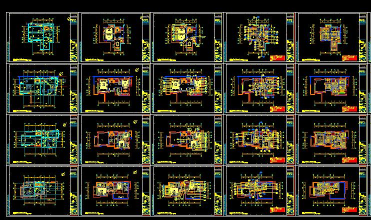 【广东】现代东方内涵风格别墅设计施工图(附效果图+材料表)_4