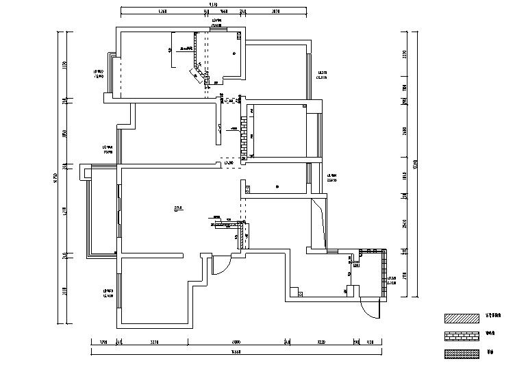 雅致留声美式四居室样板房设计施工图(附效果图)