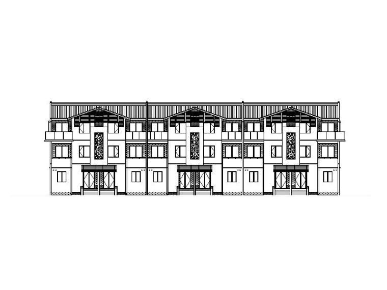 [江苏]大型设计院江南风格新中式住宅别墅区施工图(全专业)