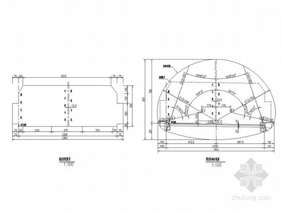 复合式路面结构公路隧道施工图(知名设计院)