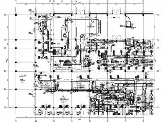 [上海]医药厂房净化空调系统设计全套施工图纸(大院设计,含英文注释)