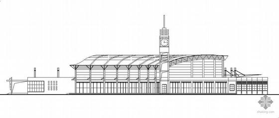 宁乡某悬挑结构汽车站建筑设计方案(有效果图)