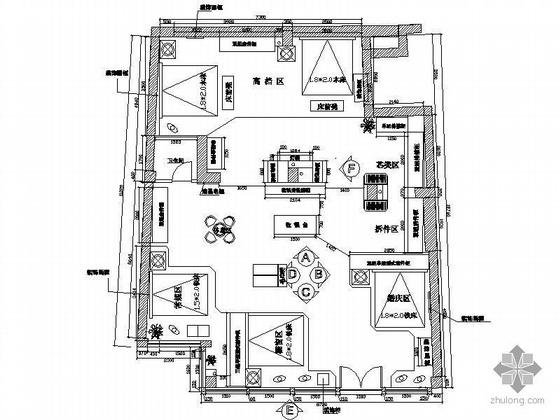婚庆广场品牌家纺专卖店设计图