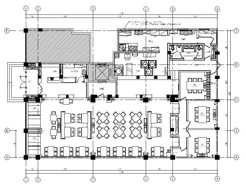 [施工图][郑州]少数民主连锁餐饮空间设计cad施工图(含方案,效果图)