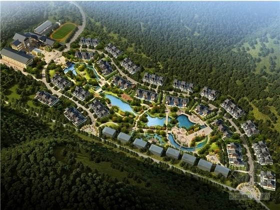 [河北]新中式风格新农村规划设计方案文本(含小学、酒店等设计)