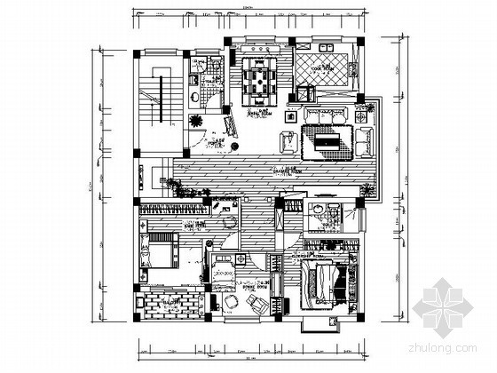 [浙江]某跃层大户型家装设计图