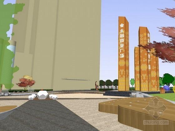 商业广场景观设计sketchup模型