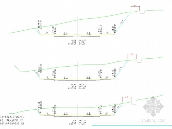 [重庆]26米城市次干道道路工程施工图设计25张