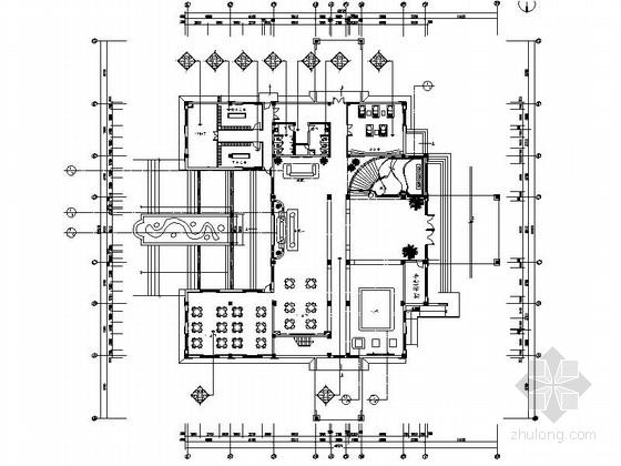 [长春]奢华欧式风格售楼处室内CAD装修图