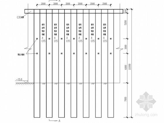 [四川]15米深基坑桩锚支护及抗浮锚杆施工图
