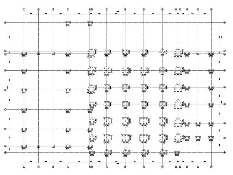 [辽宁]两个地上单层钢架结构与一个框架结构汽车4S店结构施工图