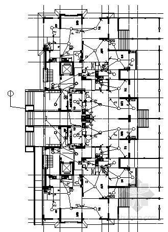 [青岛]某九层住宅楼全套电气施工图纸