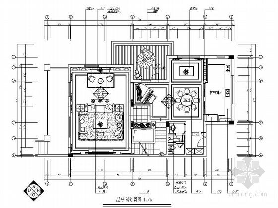 [杭州]某复古欧式三层别墅室内设计施工图