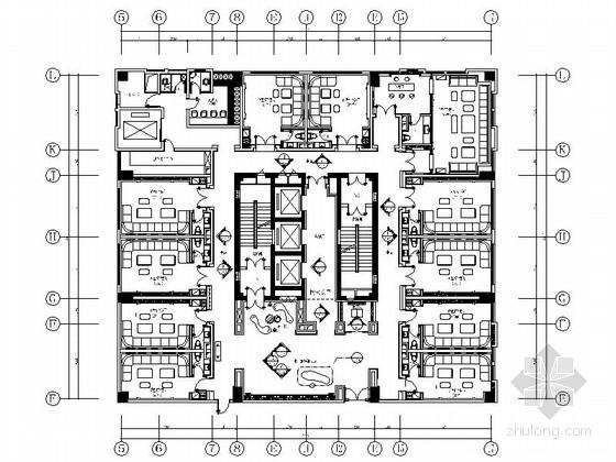 [山东]商务中式五星级酒店KTV装修施工图(含效果)