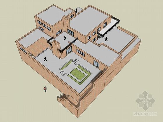 范斯沃斯住宅SketchUp模型下载