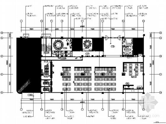 [江苏]精装写字楼员工食堂室内装修施工图(含效果)