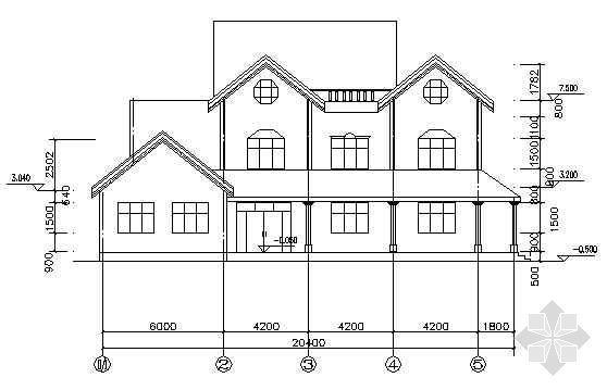 某农村别墅建筑结构图纸
