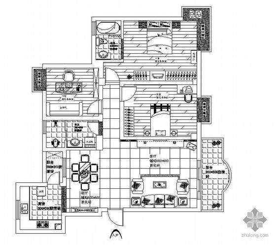 某三居室家装施工图