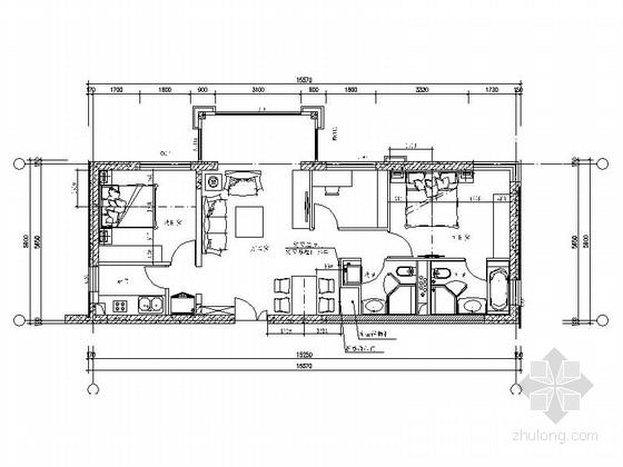 [北京]方庄经典小区现代两室两厅室内装修图(含效果)