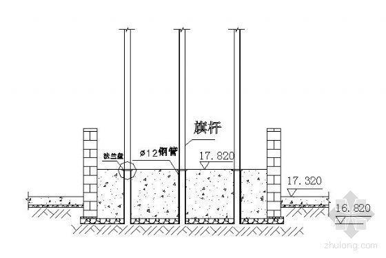 旗台施工图详图