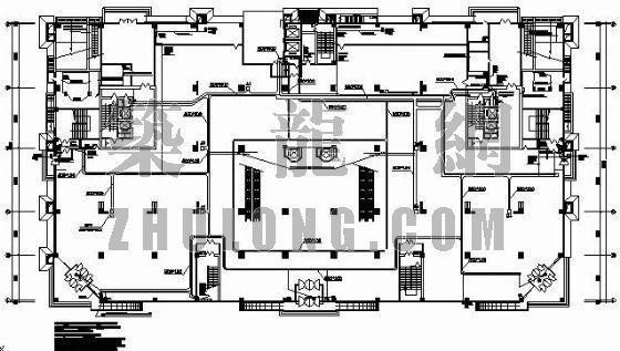 2-6层商场电力平面图