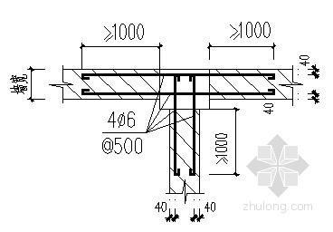 构造柱与砖墙连结节点详图