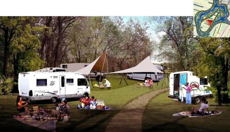 [辽宁]国家试点湿地公园景观规划设计文本-房车营地效果图