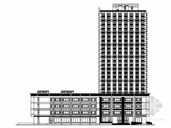 [上海]某二十四层商业综合体建筑施工图